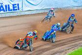 Os pilotos a participar no campeonato europeu de pista de terra — Fotografia Stock