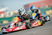 Pilots competing in National Karting Championship 2012 — Stock Photo