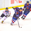 Hockey players during the Steaua Rangers vs Corona Brasov — Stock Photo
