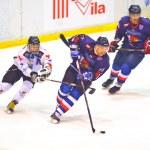 Hockey players during the Steaua Rangers vs Corona Brasov — Stock Photo