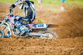 Rider participates in the Fourth National Endurocross Championship — Stock Photo