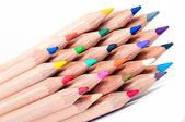 Gruppo di pastelli colorati — Foto Stock