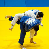Contestants participate in the Judo World Cup Men 2011 — Stock Photo