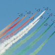 Italian demoteam Frecce Tricolori — Stock Photo