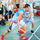 Bascketball players during the game Sport Arena Streetball 3x3 — Stock Photo