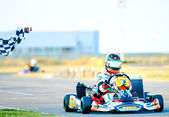 Pilot competing in National Karting Championship 2012 — Stock Photo