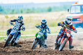 Riders participates in the Fourth National Endurocross Championship — Stock Photo