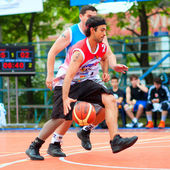 Bascketball players — Stock Photo