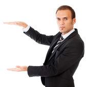 Business man giving presentation — Stock Photo