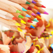 Royalty-Free Stock Photo: Colorful pencils and shavings