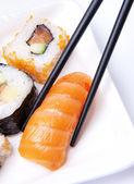 Traditional Japanese food Sushi — Stock Photo
