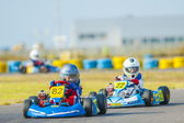Kart pilots competing — Stock Photo
