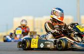 Kart pilots competing — Stock Photo