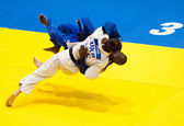 BUCHAREST, ROMANIA - JUNE 4: Contestants participate in the Judo — Stock Photo