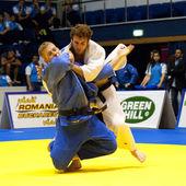 BUCHAREST, ROMANIA - JUNE 4: Contestants participate in the Judo — Stock Photo