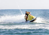 Man on a jet ski on the sea — Stock Photo