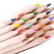 Stock Photo: Group of colorful crayons closeup