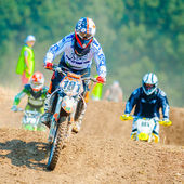 An unidentified riders — Stock Photo