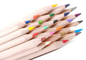 Group of colorful crayons closeup — Stock Photo