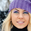 Young beautiful woman outdoor in winter — Stock Photo #18890039