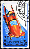 MONGOLIA - CIRCA 1988: stamp printed by Mongolia, shows bobsled, — Stock Photo