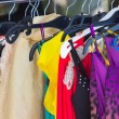 Royalty-Free Stock Photo: Fashion clothing on hangers at the show