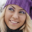 Young beautiful woman outdoor in winter — Stock Photo #19832439