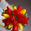 Stock Photo: Brides wedding bouquet of tulips