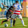 GALATI, ROMANAIA -MAY 08: Unidentified football players compete — Stockfoto