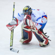 Stock Photo: GALATI, ROMANI- NOVEMBER 17: Hockey player from CSS HSC Csiksz