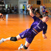 GALATI, ROUMANIA - MAY 18: Unidentified players in action at Rou — Stock Photo