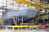 船舶建造船厂内拍摄 — 图库照片