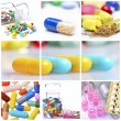 Collage of different colorful pills — Stock Photo #37577675