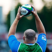 Unidentified rugby player — Stock Photo