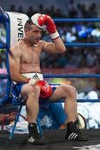 Boxer got knocked out — Stock Photo