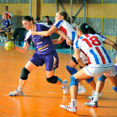 Handball players — Stockfoto