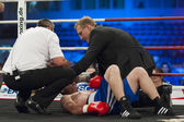 Luta de boxe — Fotografia Stock