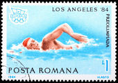 Stamp printed in Romania — Stock Photo