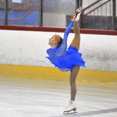 Unknown skater competing — Foto Stock
