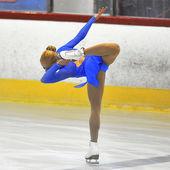 Unbekannter skater im wettbewerb — Stockfoto