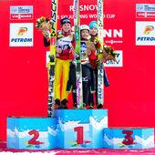 Ski jumpers — Stockfoto