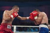 Combate de boxeo — Foto de Stock