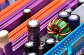 Computer motherboard close up — Stock Photo