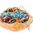 Wooden casket with beads — Stock Photo #34867051
