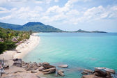 View of Lamai beach in Thailand — Stock Photo