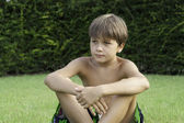 Boy on the grass — Foto Stock