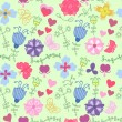 Abstract floral pattern — Stock Vector