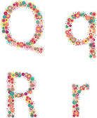 English alphabet from flower letters — Vetorial Stock
