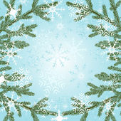 Background with snowflakes — Vector de stock