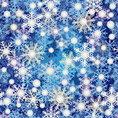 Snowflake pattern blue background — Stock Vector
